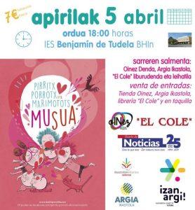 Cartel Teatro en Euskera en Tudela