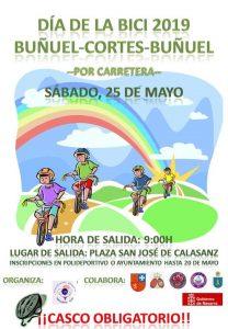 Cartel día Bicicleta en Buñuel 2019