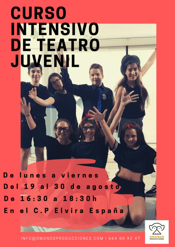 Cartel Curso Teatro Juvenil Tudela Verano 2019