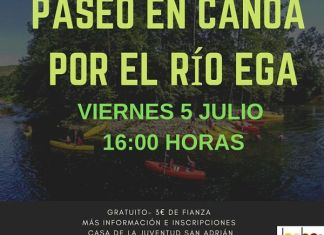 paseo canoa, rio ega, san adrian