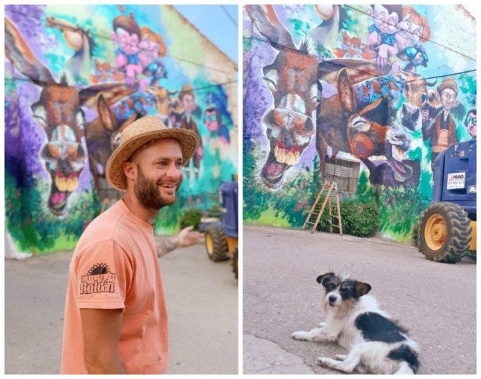 arte urbano 2019 en Torrellas. Mr. Chapu.