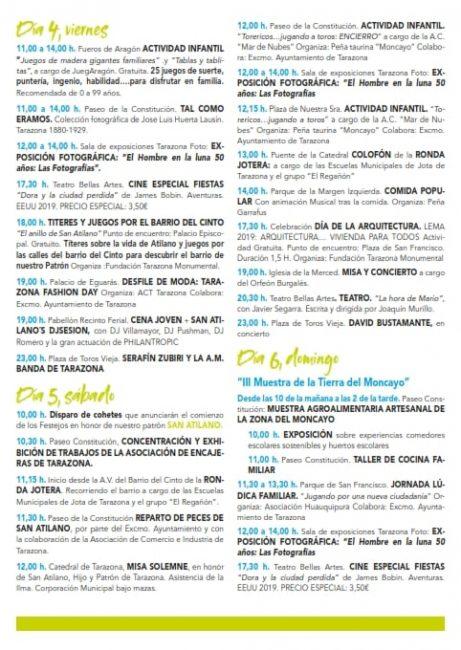 Programa Fiestas de San Atilano 2019 en Tarazona