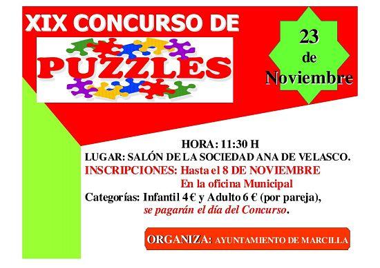 XIX concurso puzzles Marcilla