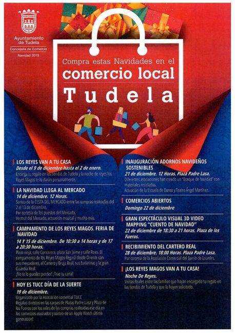 Campana Navidad comercio local Tudela