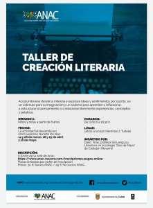 TALLER CREACIÓN LITERARIA ANAC TUDELA