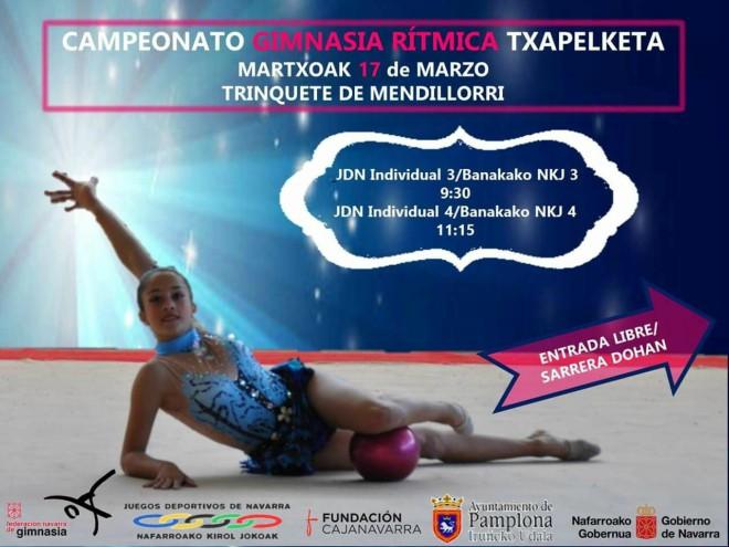 Campeonato gimnasia rítmica en Funes