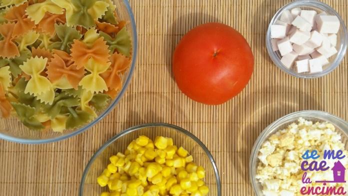 Ingredientes ensalada de pasta