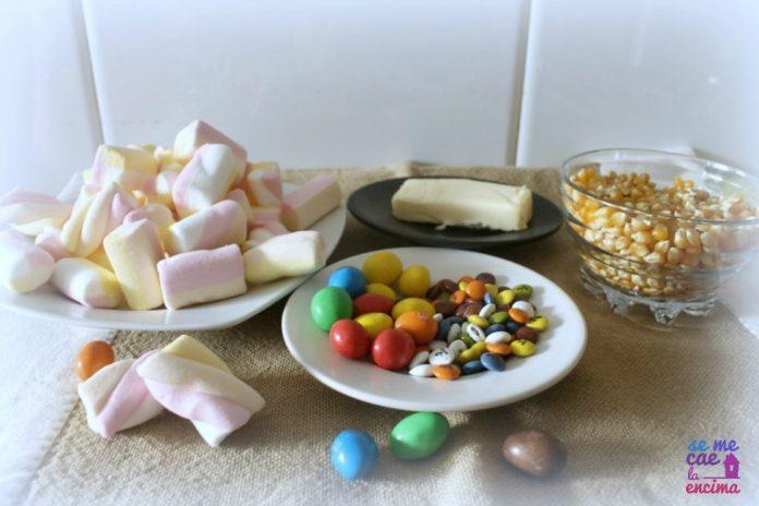 Ingredientes tarta de palomitas