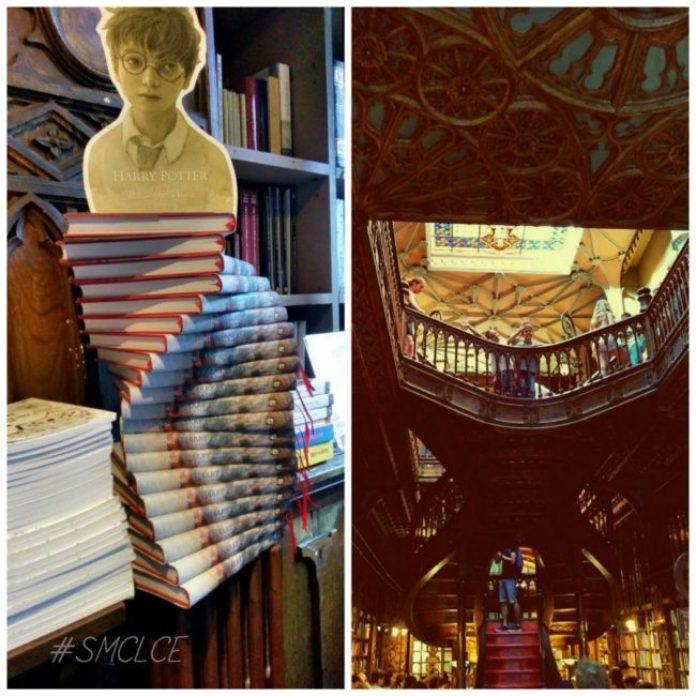 Harry Potter en la librería Lello e Irmão en Oporto, Portugal