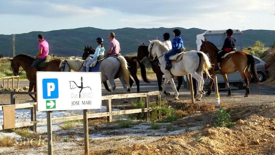 paseo a caballo con niños Fitero