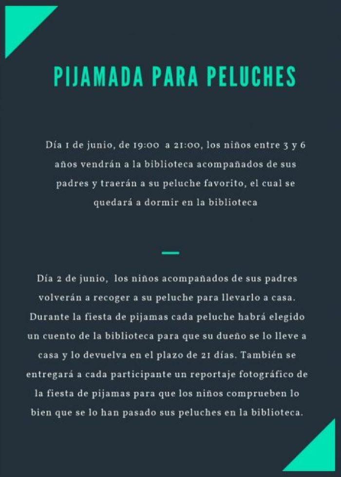 pijamada peluches biblioteca Tudela