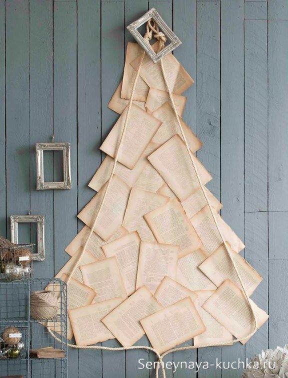 elka-nastene1 Елка на стене: необычная елка своими руками. Новогодняя елочка из сухих веток, деревянных палок и коряг