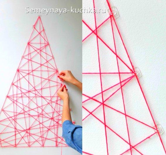 Kuinka tehdä joulukuusi talon seinälle