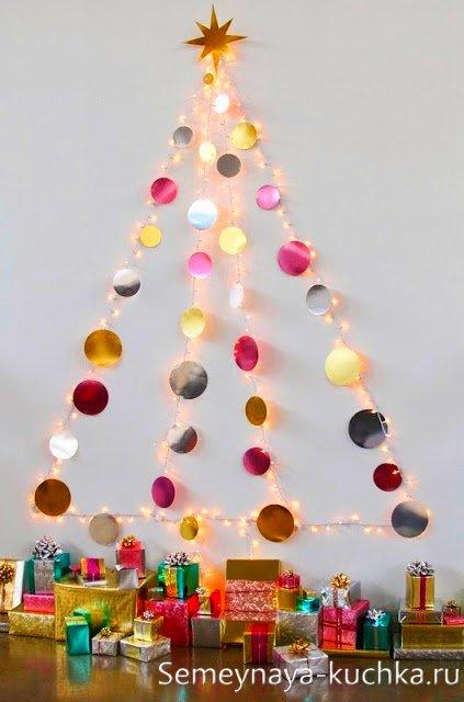 Cómo hacer un árbol de navidad de pared