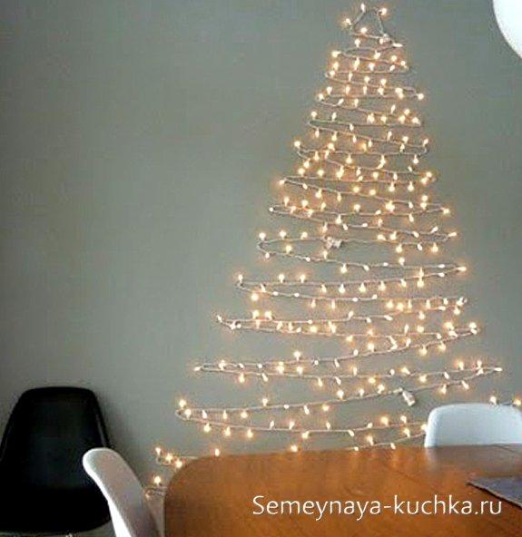 Cómo decorar la pared para el nuevo año.