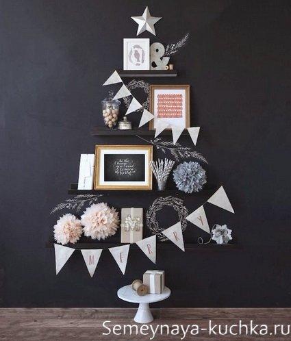 Kuinka tehdä tyylikäs joulukuusi seinälle