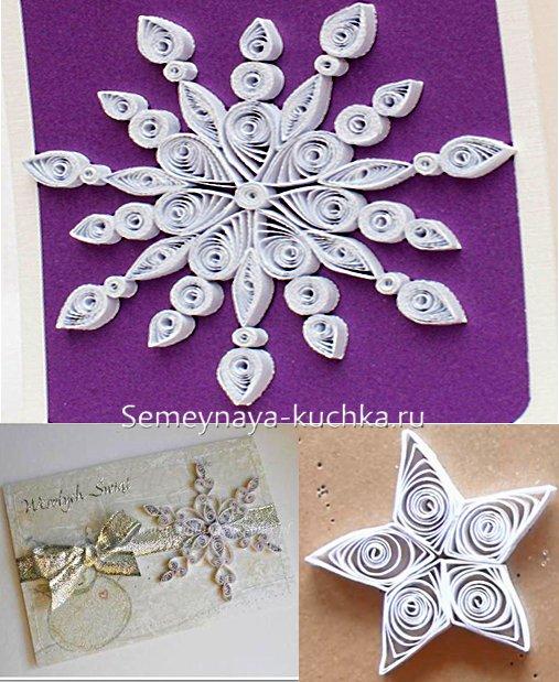 کارت پستال با برف برای سال جدید