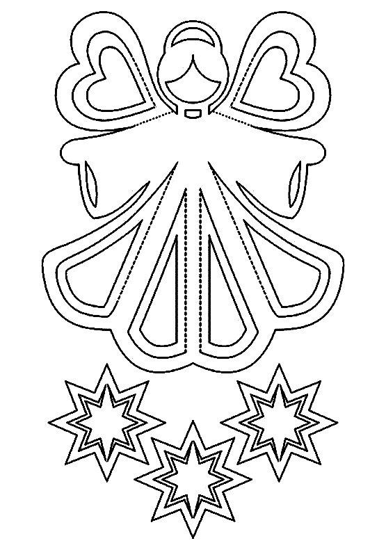 Schema șablonului înger pe fereastră