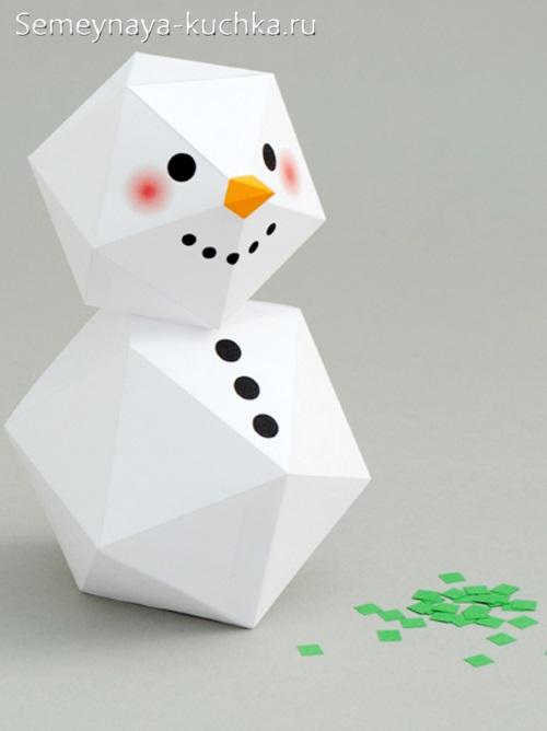 Người tuyết làm bằng giấy để tự làm