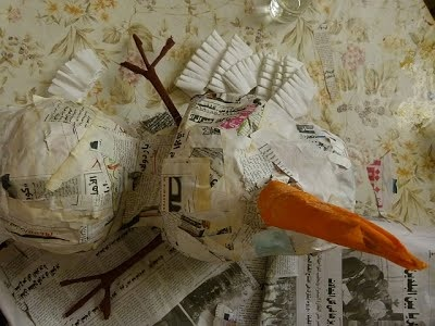 мастер класс снеговик из бумаги