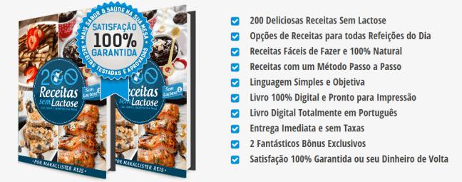 Benefícios Livro 200 Receitas Zero Lactose