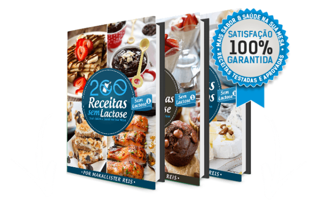 200 Receitas sem Lactose mais Bônus Exclusivo