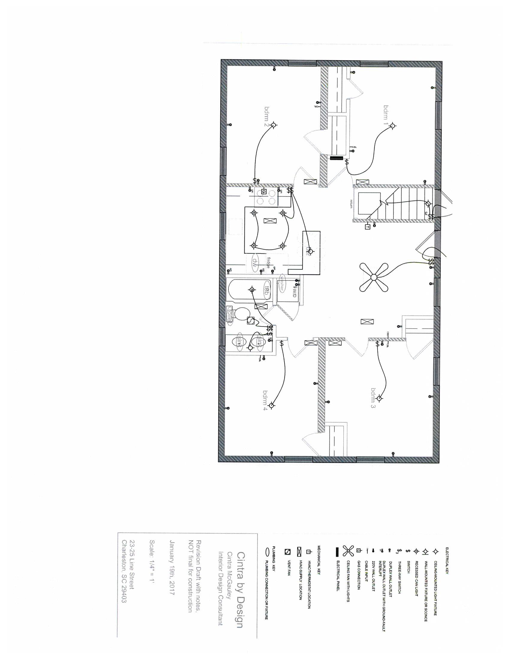 Electrical Floor Plan Key