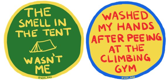 fake merit badges for real outdoor achievements