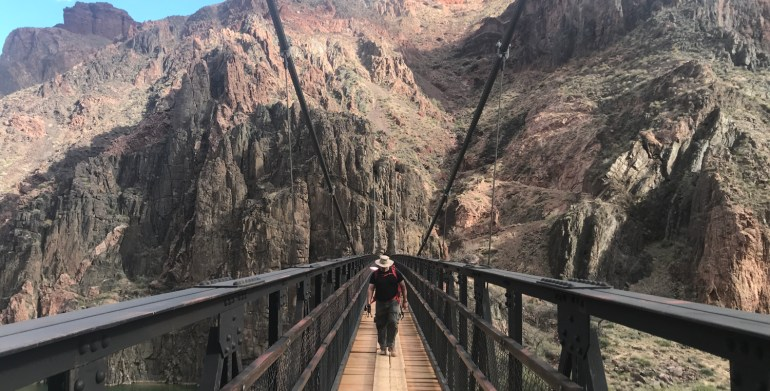 kaibab suspension bridge grand canyon