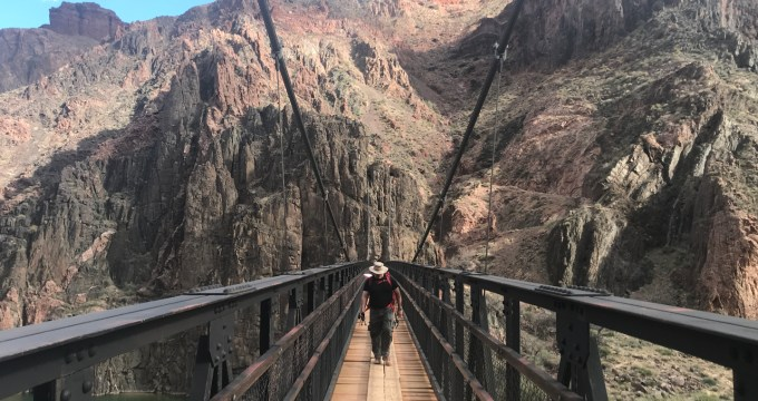kaibab suspension bridge grand canyon
