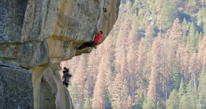 "screen capture from What if He Falls? The Terrifying Reality Behind Filming ""Free Solo"""