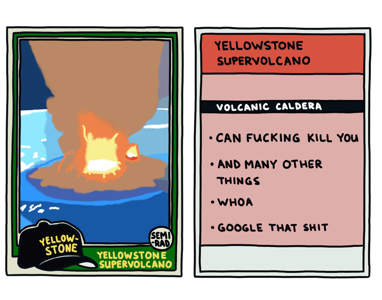 drawing of a yellowstone supervolcano that can kill you