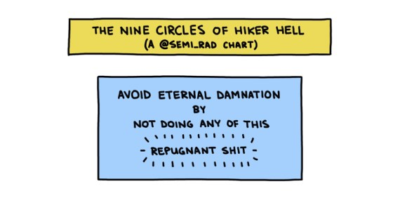 The Nine Circles of Hiker Hell title box