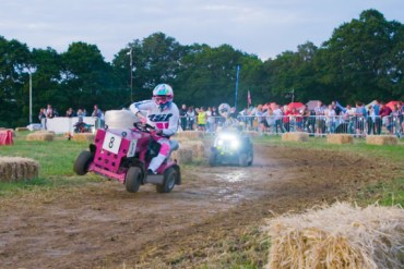 screen capture from An Epic 12-Hour Lawnmower Race