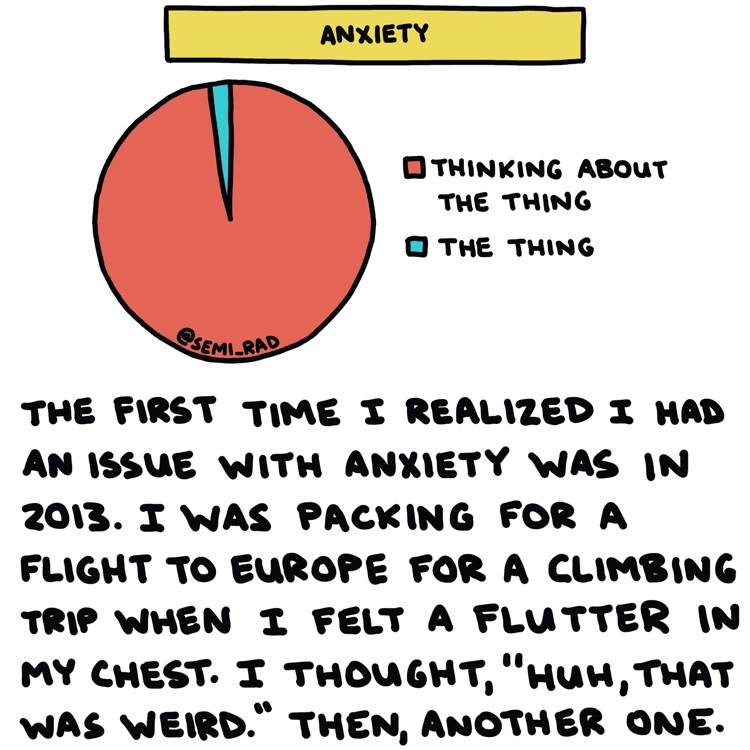 anxiety pie chart