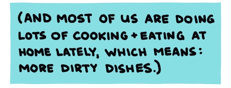 handwritten text about most of us cooking at home nowadays
