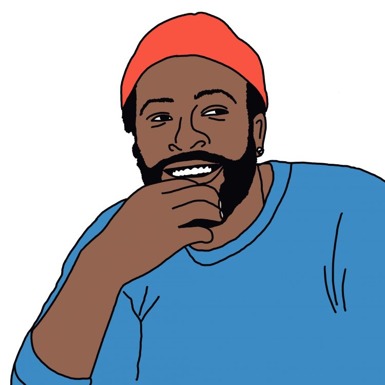 drawing of Marvin Gaye