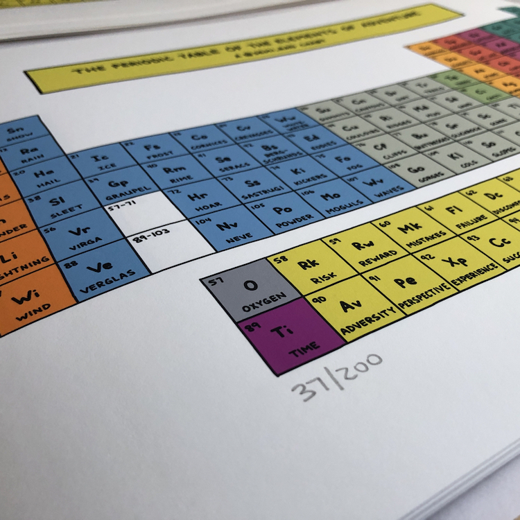numbered first edition of The Periodic Table Of The Elements of Adventure