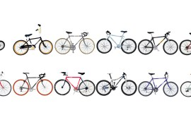 12 bicycles, hand-drawn