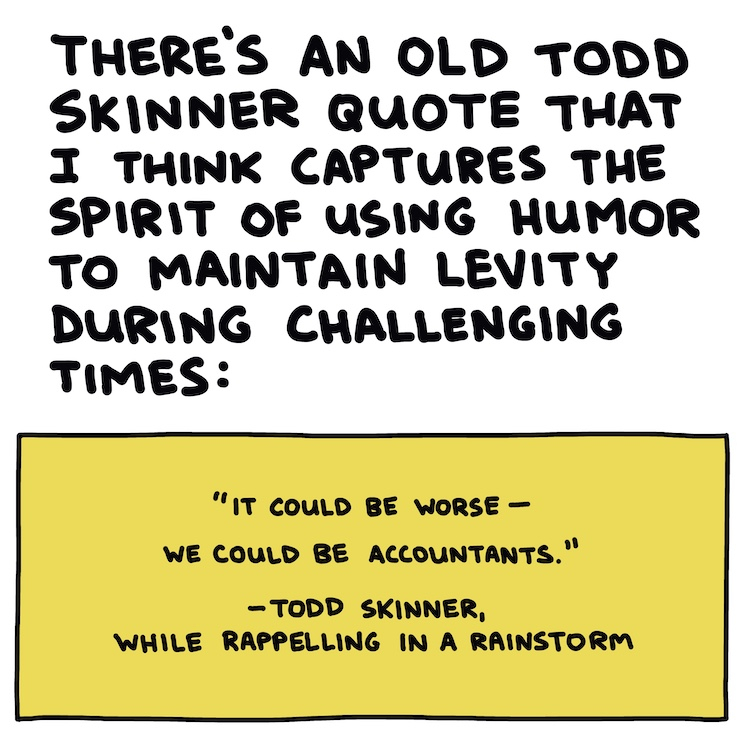 handwritten text and quote from Todd Skinner
