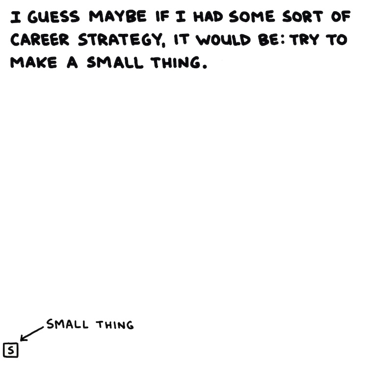 handwritten text and drawing of small thing