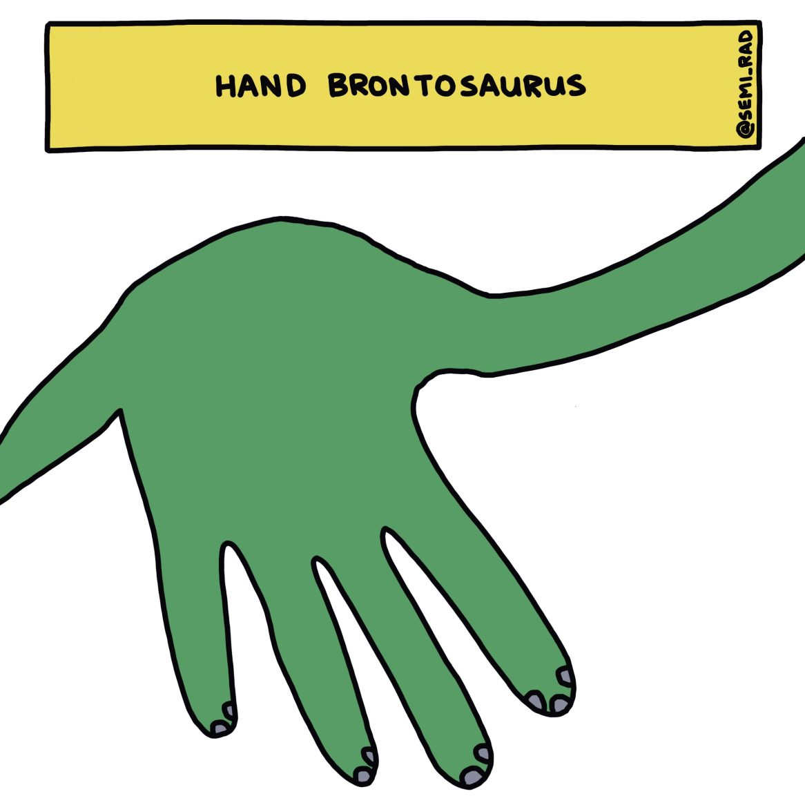 semi-rad hand brontosaurus