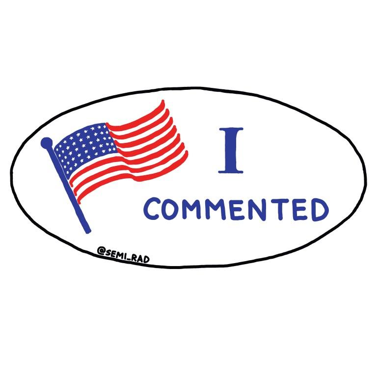 """semi-rad 'I Commented"""" voting sticker"""