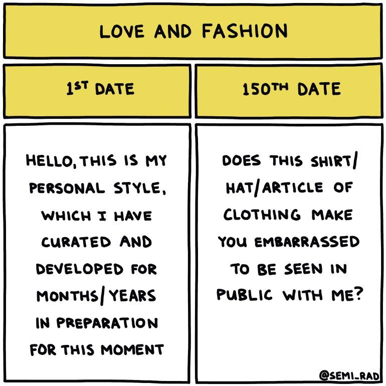 semi-rad chart: love and fashion