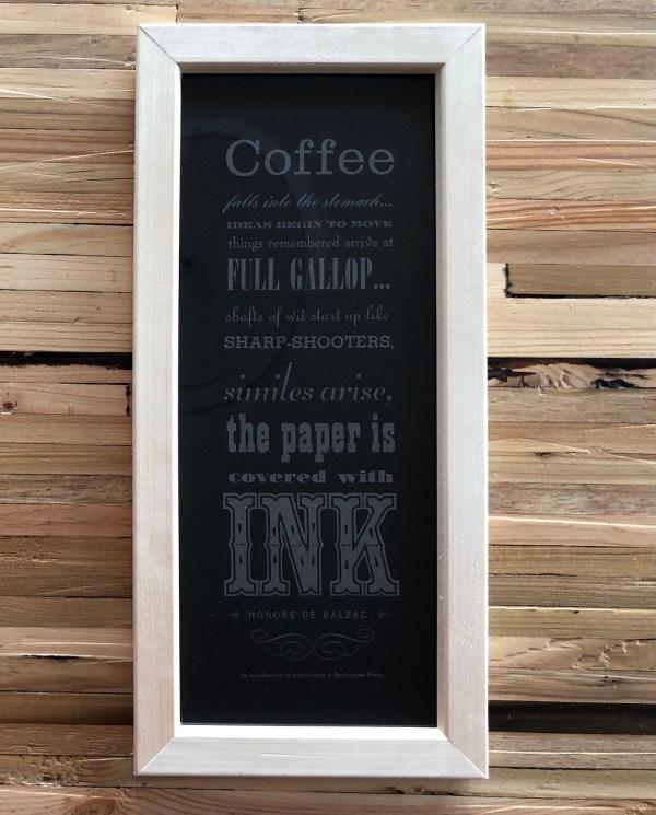 balzac coffee quote print