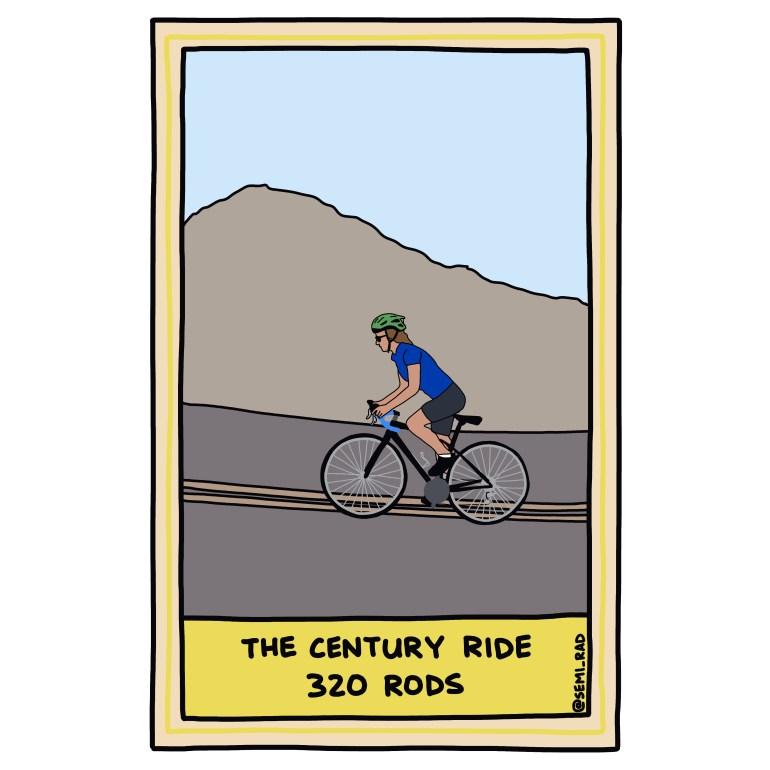 semi-rad illustration century ride measured in rods