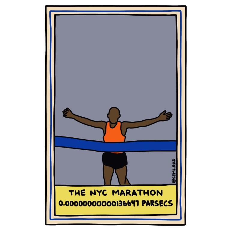 semi-rad illustration NYC Marathon
