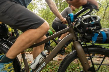 Bikepacking C&O canal path by Forest Woodward