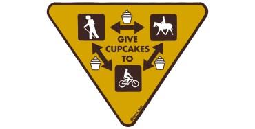 semi-rad cupcake trail sign