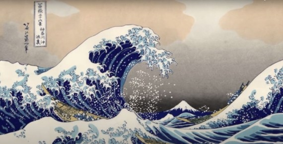 screen capture from The Great Wave by Hokusai- Great Art Explained
